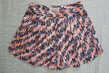 COUNTRY ROAD orange blue white geometric print high waisted shorts size 4 NWOT
