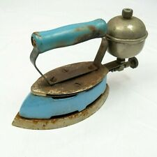 Coleman Iron SAD Antique Blue Enamel Model A4 Lite Gas Heating. Made in USA