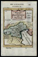 Northern Italy Republic of Venezia Venice Italia 1683 Mallet miniature map