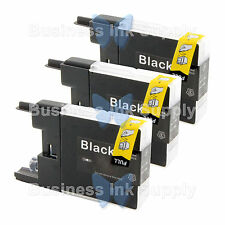 3 BLACK LC71 LC75 NON-OEM Ink for BROTHER MFC-J430W LC-71 LC-75 LC71BK LC75BK