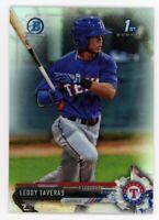 2017 Bowman Chrome LEODY TAVERAS 1ST Rookie Card RC REFRACTOR /499 Texas Rangers