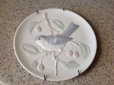 Beautiful Plate With Bird In A Cherry Tree Wall Hanging
