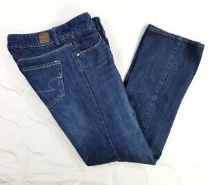 American Eagle Outfitters 77 Straight Jeans Size 0 Short Womens Ultra Low euc