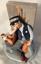 "Norman Rockwell Humor 6"" Asleep On The Job Danbury Mint Figurine"