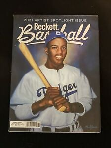 New 2021 July Beckett Baseball Card Price Guide Magazine With Jackie Robinson