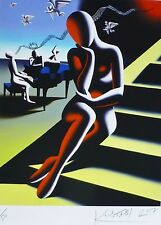 "Mark Kostabi "" Upwardly Mobile "" (Kreutzer Sonata) Signé à la Main Art Urbain Us"