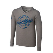 WWE WRESTLEMANIA 33 PULLOVER LIGHT GREY HOODIE NWT-  2XL