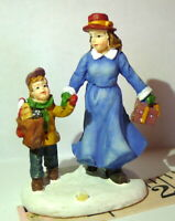 Grandeur Noel Victorian Village Sister and Brother Replacement Christmas 2002