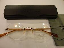 Oliver Peoples OP-679 Vintage TWENTY YEARS Amber Frame Titanium Eyeglasses