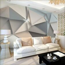 3D Sitting room bedroom TV background Embossed Retro geometric wallpaper BQ888