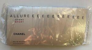 CHANEL ALLURE HOMME SPORT EAU DE TOILETTE SAMPLE SET 12x 1,5 ml =18 ml VIP GIFT