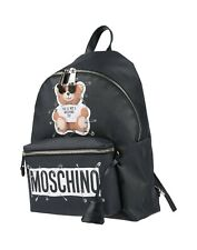 AW18 Moschino Couture Jeremy Scott TEDDY BEAR SAFETY PINS BLACK BACKPACK wPOCKET