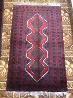 Handmade Oriental Afghan kazakh Accent Rug,Tribal & Geometric, Camel Hair,2'11x4