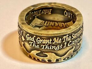 Addiction Coin Ring - Recovery Rings Hand Made in Canada