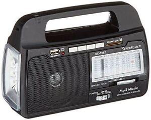 Supersonic SC1093 3-Way Emergency Radio/20-LED Flashlight/Lantern