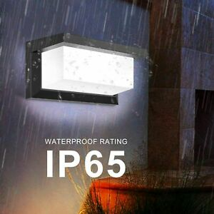 Modern IP65 LED Wall Lights Sconce Indoor/Outdoor Garden Down Wall Lamp