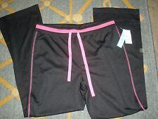 NEW Body in Motion Black exercise pants New York Leisure Wear women's medium $36