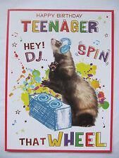 Feliz Cumpleaños adolescente Hey DJ Spin que rueda 13TH Cumpleaños Tarjeta De Felicitación