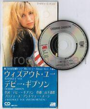 "DEBBIE GIBSON Without You JAPAN 3"" CD SINGLE AMDY-5034 Zulla, Tatsuro Yamashita"