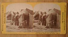 H.H. Bennett Winnebago Indians Yellow Thunder Warrior Wisconsin Dells Stereoview
