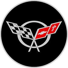 "#4806m (1) 5"" Corvette C5 logo Emblem Decal Sticker Laminated"