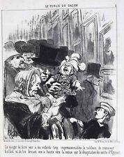 Honore Daumier France 1808-1879 Lithograph Le Public de Salon No 2