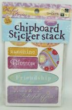 DCWV - POCKET POSIES -  Chipboard Sticker Stack 5 Sheets 75 Pieces