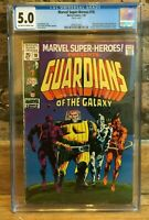 Marvel Super-Heroes #18 1st Appearance of Guardians of The Galaxy CGC 5.0