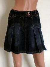Short/Mini Cotton Blend No Pattern Regular Skirts for Women
