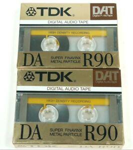 LOT OF 2 TDK DA-R90 DAT DIGITAL AUDIO TAPE (NEW SEALED)