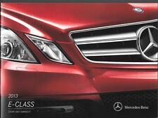 2013 13  Mercedes Benz E Class Coupe & Convertible Original  brochure