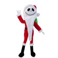 Disney Nightmare Before Christmas Santa Jack Skellington Poseable Plush Doll Toy
