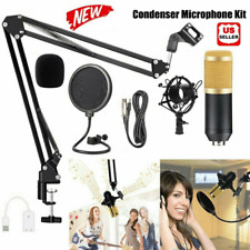 BM-800 Condenser Microphone Kit Studio Pro USB Audio Mic Metal Stand Shock Mount