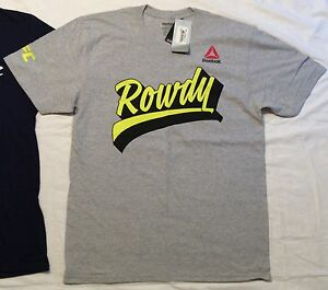 Men's Uni M Reebok UFC ROWDY RONDA ROUSEY Women's Bantamweight CHAMPION T-SHIRT