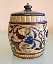 Antique  Doulton Lambeth Tobacco Jar  4 1/2'' (14 1/2cm) Tall Max