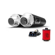HMF Can-Am Renegade 1000 2016 Black Dual Slip On Exhaust Muffler + EFI + UNI