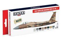Hataka Hobby AS29 USAF Aggressor Squadron F15/F16 Fleet Volume 1 Paint Set