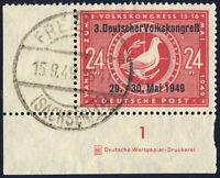 SBZ, MiNr. 233 I DZ, Druckereizeichen, schön gestempelt, Mi. 100,-