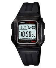 Casio Illuminator Quartz Digital Dual Time Mens Sports Watch F-201wa-1a F201wa