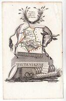 Carte géographique XIXe Département Haute Vienne Nouvelle Aquitaine Vache 1824