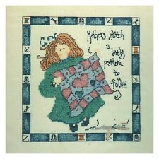 New ListingMothers Stitch a Lovely Pattern Heart Counted Cross Stitch Kit Dmc Floss