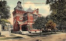 Kalamazoo Michigan 1913 Postcard Ladies' Library