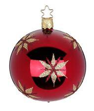 "Inge Glas ""Magic Stars"" 6cm Ball Glass Ornament -Made Germany (#386)"