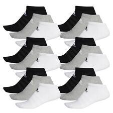 18 Par Adidas Rendimiento No Show Zapatillas Calcetines Talla 35-54 Unisex Sock