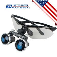 Black Dental Surgical Medical Binocular Loupes 3.5X320mm Optical Glass Magnifier
