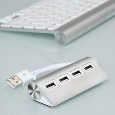 Premium 4 Port Aluminium USB Hub with 11 inch Shielded Cable For iMac MacBook PC