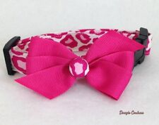**NEW** Doogie Couture **PINK LEOPARD **Dog Collar Size XS-L