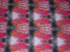 STRETCH COTTON JERSEY - ABSTRACT PRINT - DRESS FABRIC - 4.25 METRES.