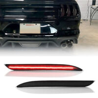 For Ford Mustang 2015 2016 2017 LED Bumper Reflector Light Lamp Rear Red 2PCS