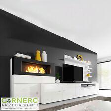 Parete attrezzata FIRE Gihome ® mobile soggiorno tv biocamino mensole moderno